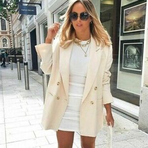 Zara Oversized Double Breasted Blazer